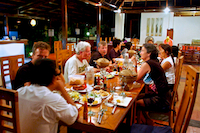 Enjoy dinner with other guests and make friends!